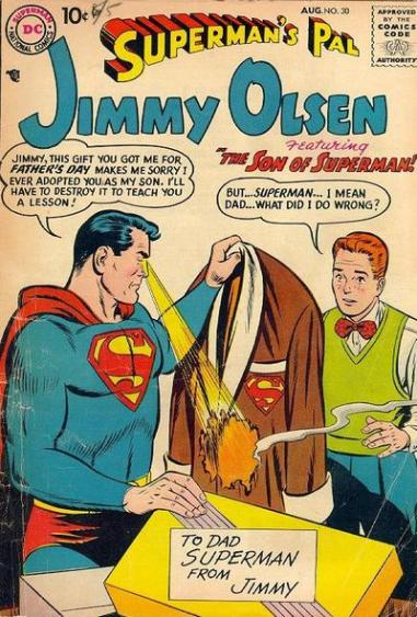 Jimmy Olsen adopted by Superman