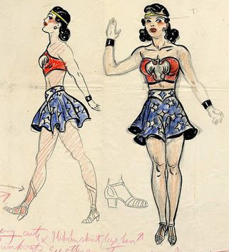 Original concept art for Wonder Woman, 1941