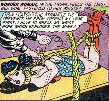 Wonder Woman tied up