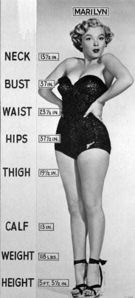 marilyn measurements
