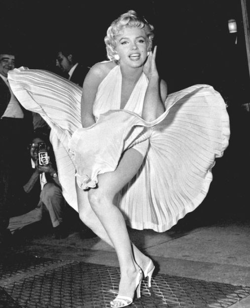 marilyn monroe, white dress
