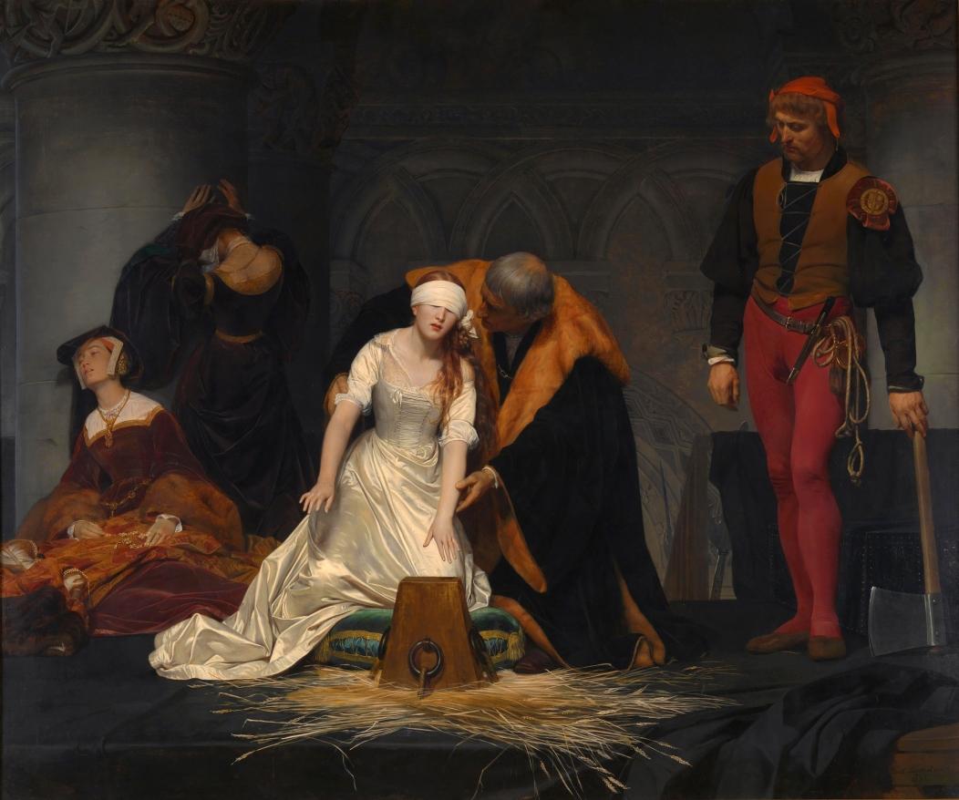 Paul Delaroche, The Execution of Lady Jane Grey, 1834.jpg