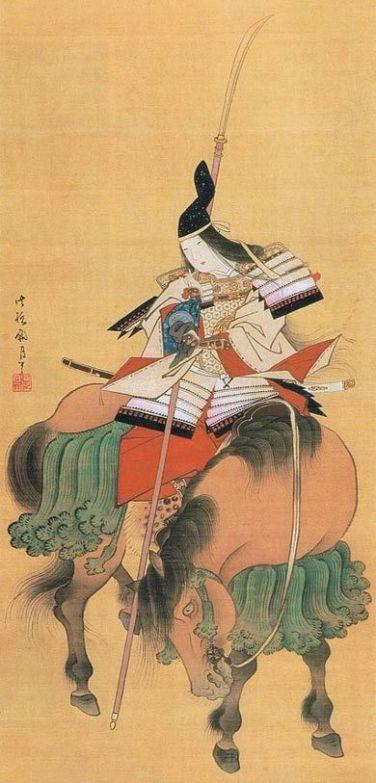 Tomoe Gozen, painted on silk