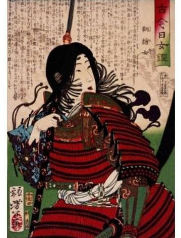 Tomoe Gozen painting