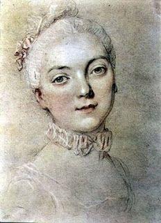 A young Jeanne by François-Hubert Drouais