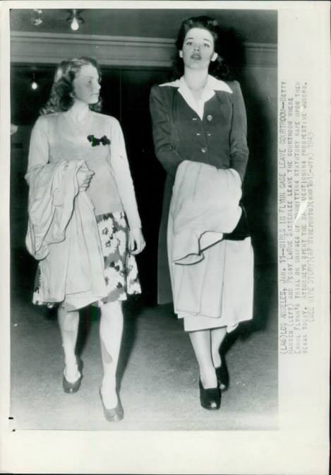 Betty and Peggy outside court