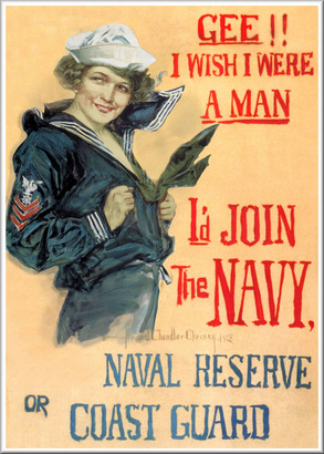 Navy and Coast Guard Propaganda Poster