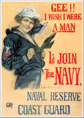 Navy and Coast Guard Propaganda Poster