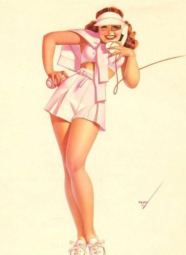 A classic George Petty Girl