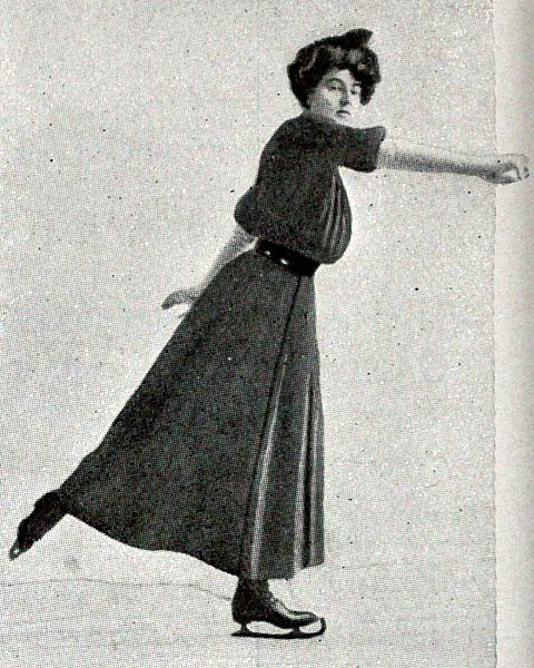 Madge Syers skating