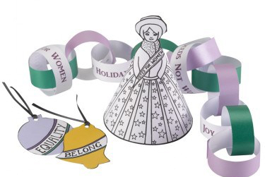 Suffrage paper decoration