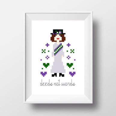 Suffragette Cross Stitch