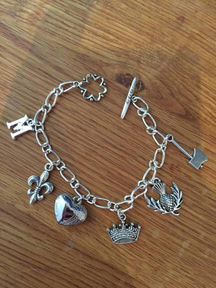 Mary charm bracelet