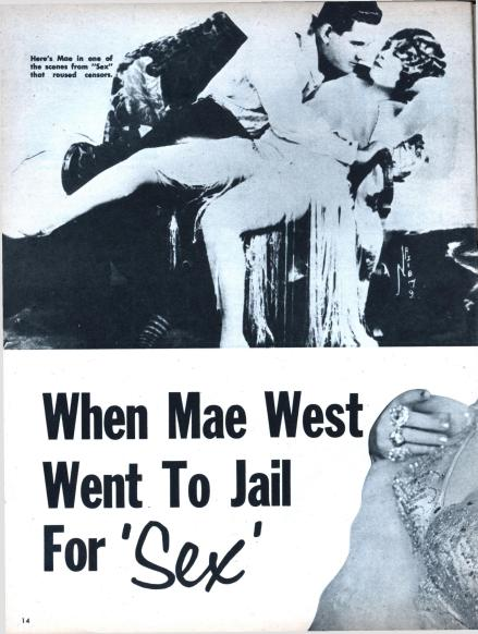 1959 article on mae West arrest