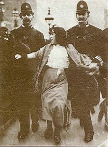 Suffragette Dora Thewlis, during her 1907 arrest