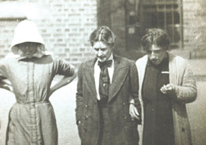 Surveillance photograph of suffragette prisoners; 1913