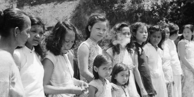 A row of comfort women