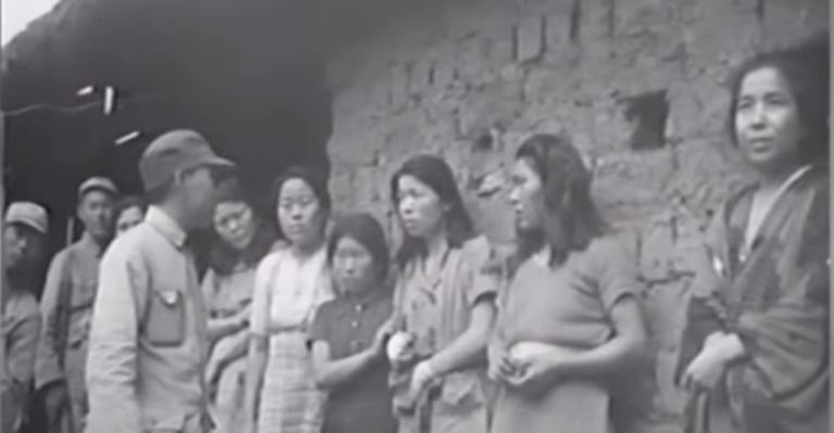 Video footage of comfort women