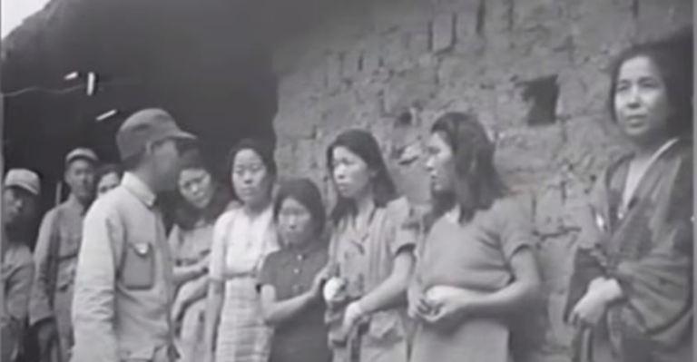Video footage of comfort women