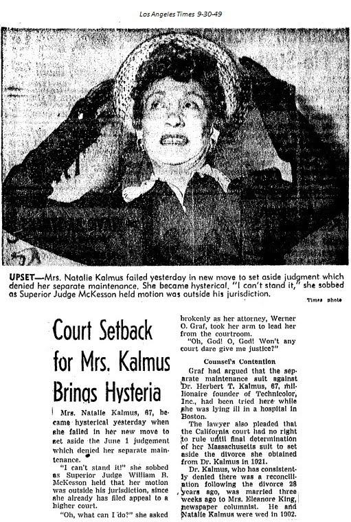 Natalie Kalmus trial headline
