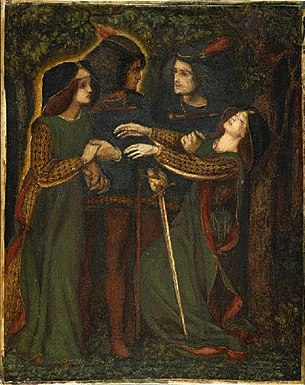 Dante Rossetti, How They Met Themselves, 1864