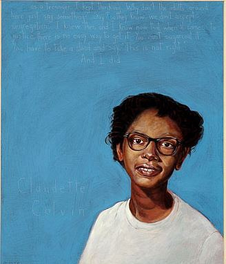 Portrait of Claudette Colvin by Robert Shetterly