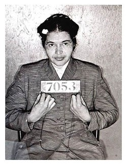 Rosa Parks Booking Image