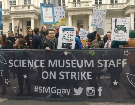 Science Museum strikers, Courtesy of Prospect