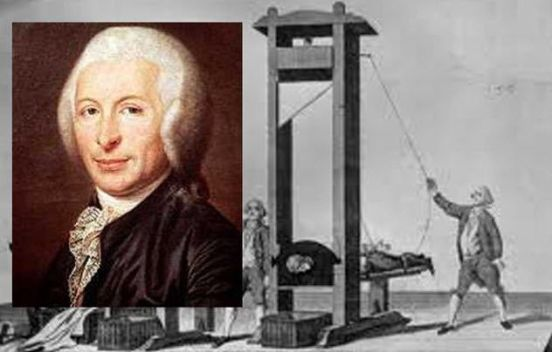 Dr. Joseph-Ignace Guillotin and his guillotine