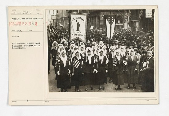 Members of the Lit Liberty Loan Brothers Loan Comittee of Parade and the Philadelphia Parade, 1918