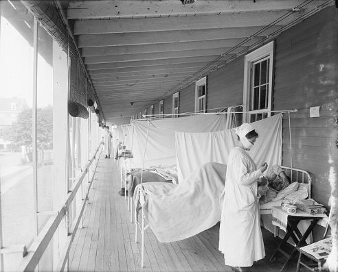 Spanish Flu patients being treated at Walter Reed Hospital in Washington