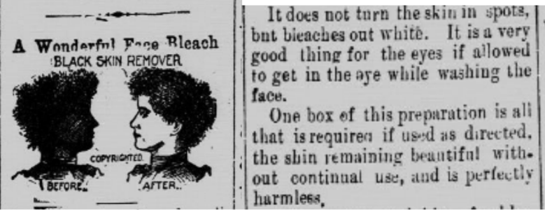 Advert from Charleston's Afro American Citizen in 1900