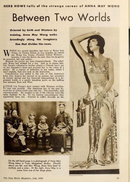 Anna May Wong, New Movie Magazine 1932