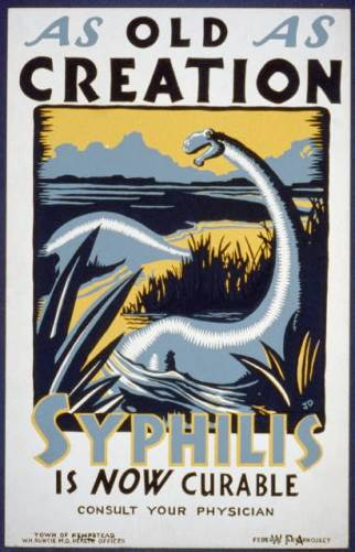 1936/1937 New York syphilis poster, via Library of Congress